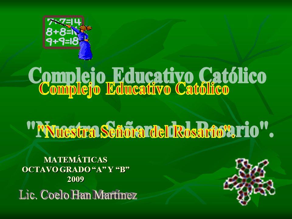 MATEMÁTICAS OCTAVO GRADO A Y B 2009
