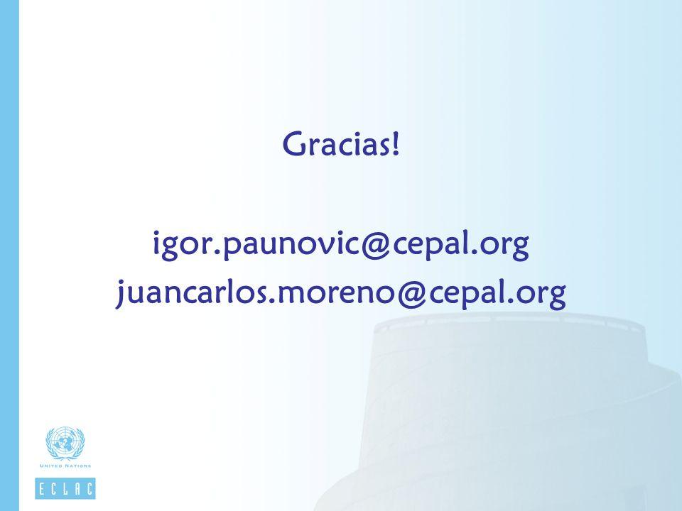 Gracias! igor.paunovic@cepal.org juancarlos.moreno@cepal.org