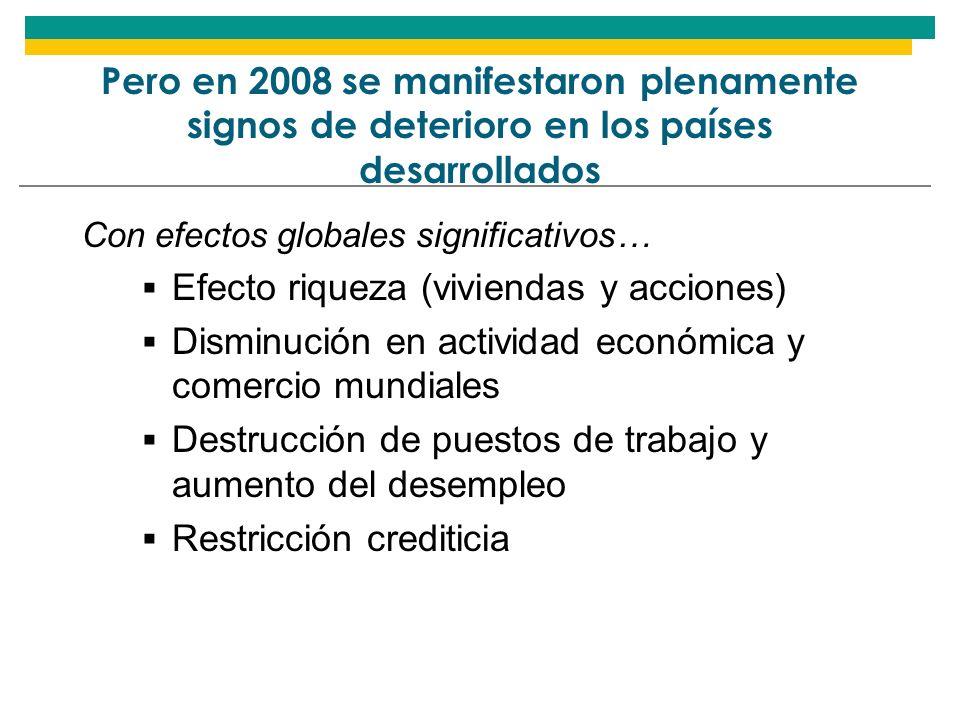 Términos del intercambio continuaron mejorando en 2008 pero se espera deterioro en 2009 AMÉRICA LATINA (19): TÉRMINOS DE INTERCAMBIO, 2008-2009 En tasas de variación anual