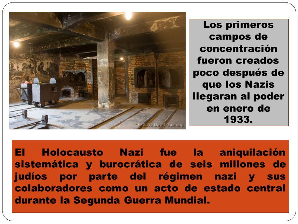 El Holocausto Nazi fue la aniquilación sistemática y burocrática de seis millones de judíos por parte del régimen nazi y sus colaboradores como un act
