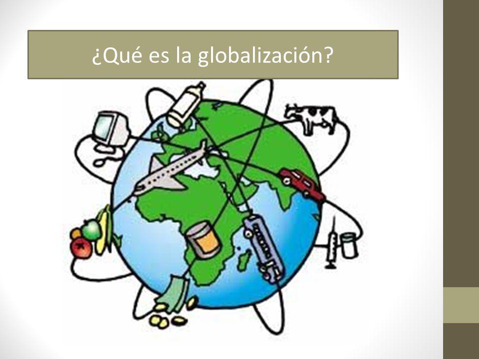 ¿Qué es la globalización económica.