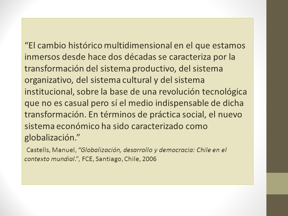 ¿Qué es necesario para lograr la internacionalización económica.