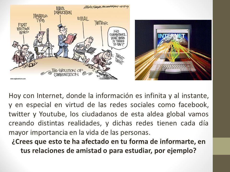 http://www.youtube.com/watch?v=UVtf5mTwftE Periodismo ciudadano e internet Facebook http://www.youtube.com/watch?v=Who-ApURnls http://www.youtube.com/watch?v=xYFO4ZWQSGM&feature=related Piensa antes de poner tu foto en Facebook