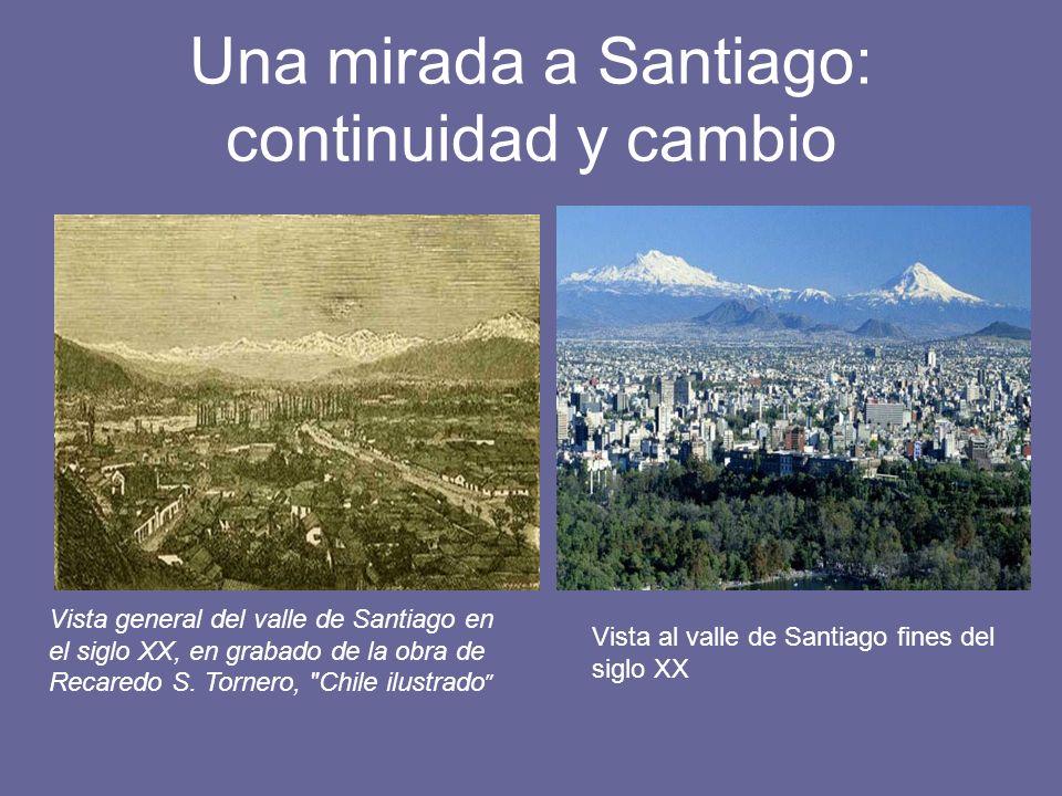 Una mirada a Santiago: continuidad y cambio Vista general del valle de Santiago en el siglo XX, en grabado de la obra de Recaredo S. Tornero,