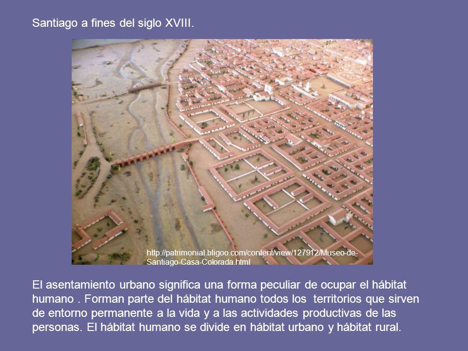 El asentamiento urbano significa una forma peculiar de ocupar el hábitat humano. Forman parte del hábitat humano todos los territorios que sirven de e