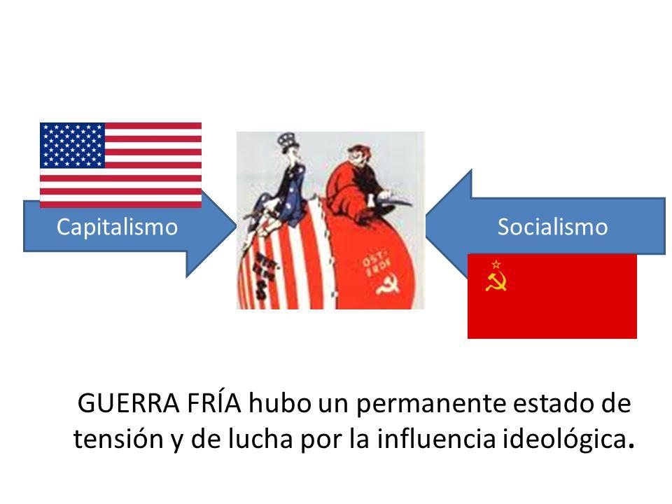 GUERRA FRÍA hubo un permanente estado de tensión y de lucha por la influencia ideológica.