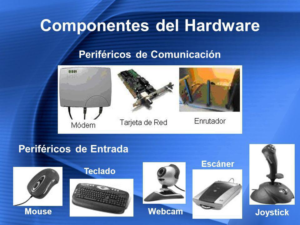 Software Es la parte intangible del computador, que no podemos palpar, dada por cargas magnéticas o eléctricas que, dispuestas convenientemente, permiten manejar el hardware Antivirus Sistemas Operativos Aplicaciones de Usuario Office, Editores Gráficos, Navegadores Firmware