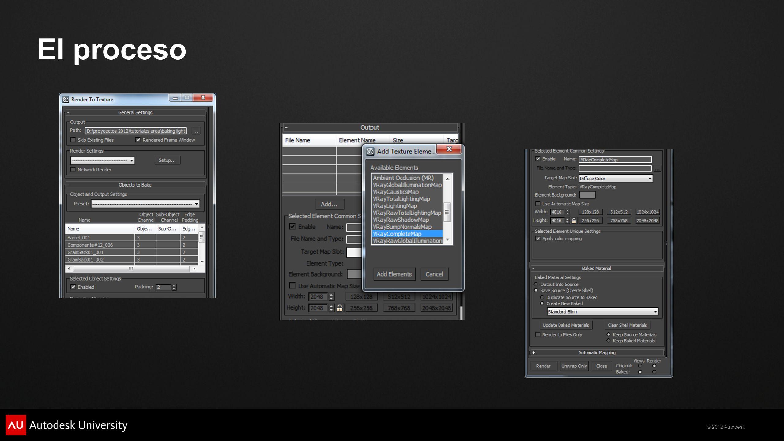 © 2012 Autodesk El proceso