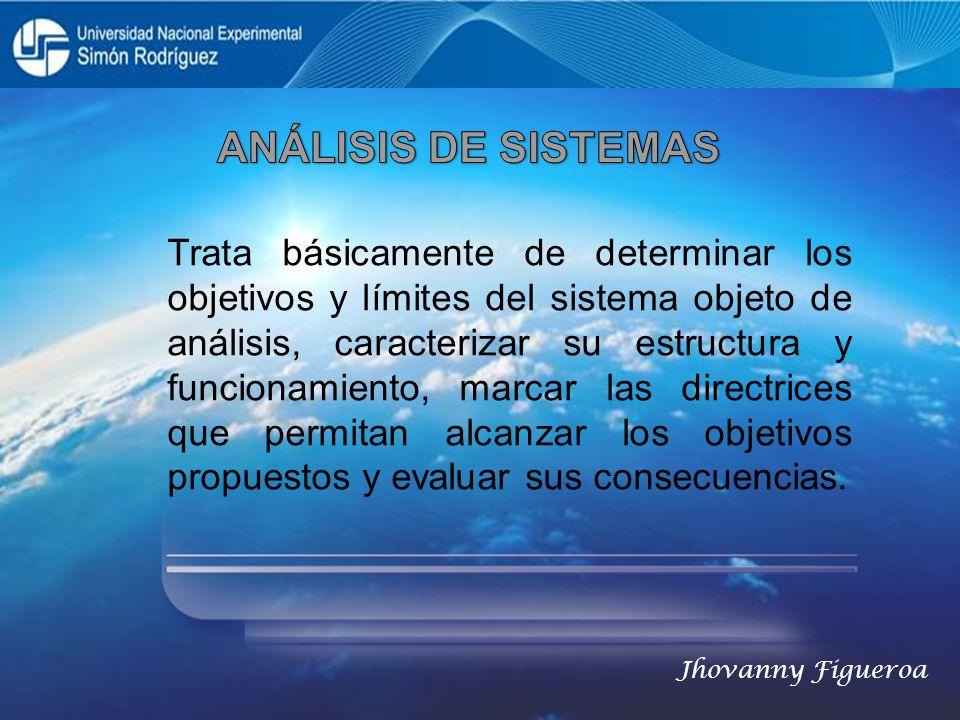 Trata básicamente de determinar los objetivos y límites del sistema objeto de análisis, caracterizar su estructura y funcionamiento, marcar las direct