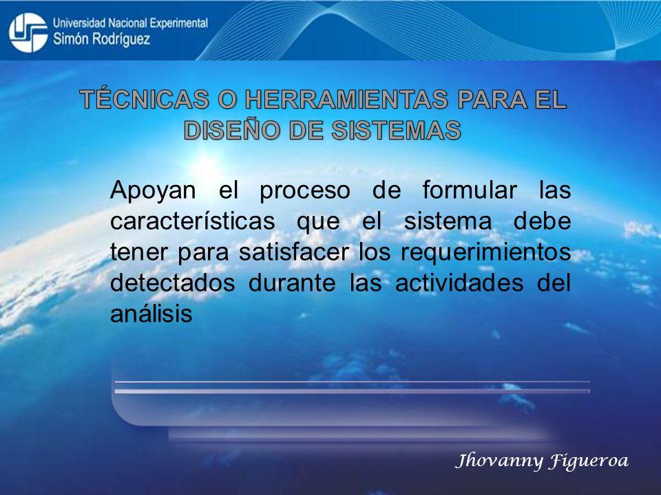 Apoyan el proceso de formular las características que el sistema debe tener para satisfacer los requerimientos detectados durante las actividades del