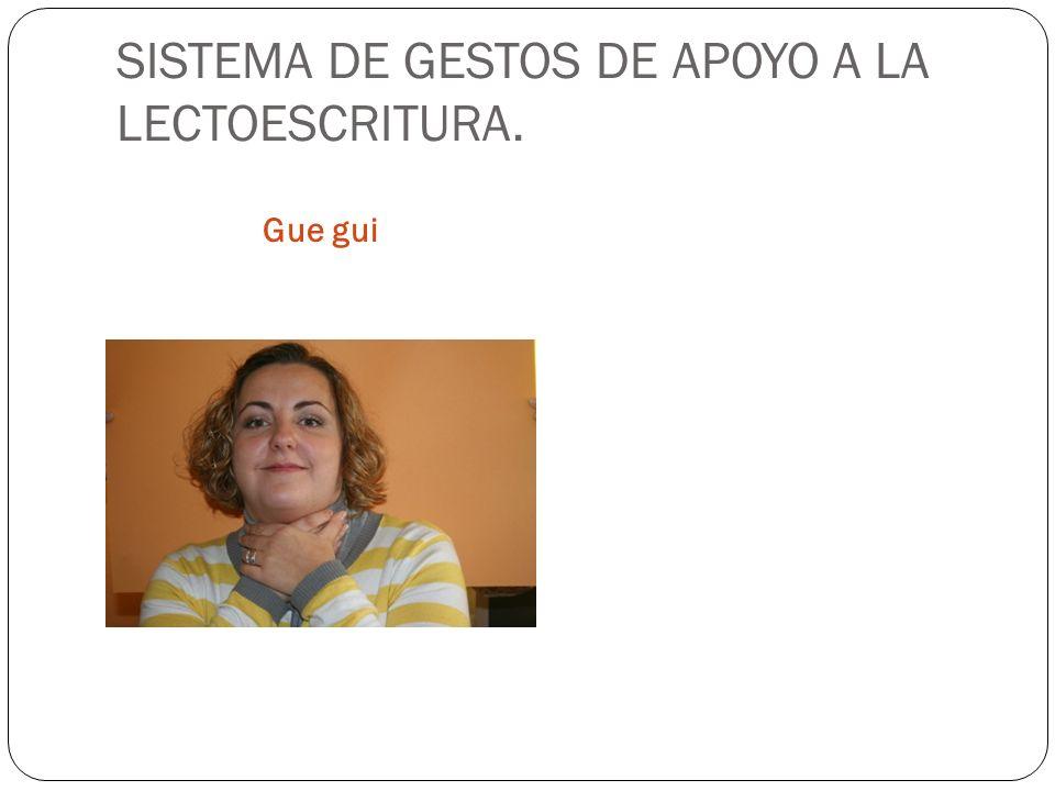 SISTEMA DE GESTOS DE APOYO A LA LECTOESCRITURA. Gue gui