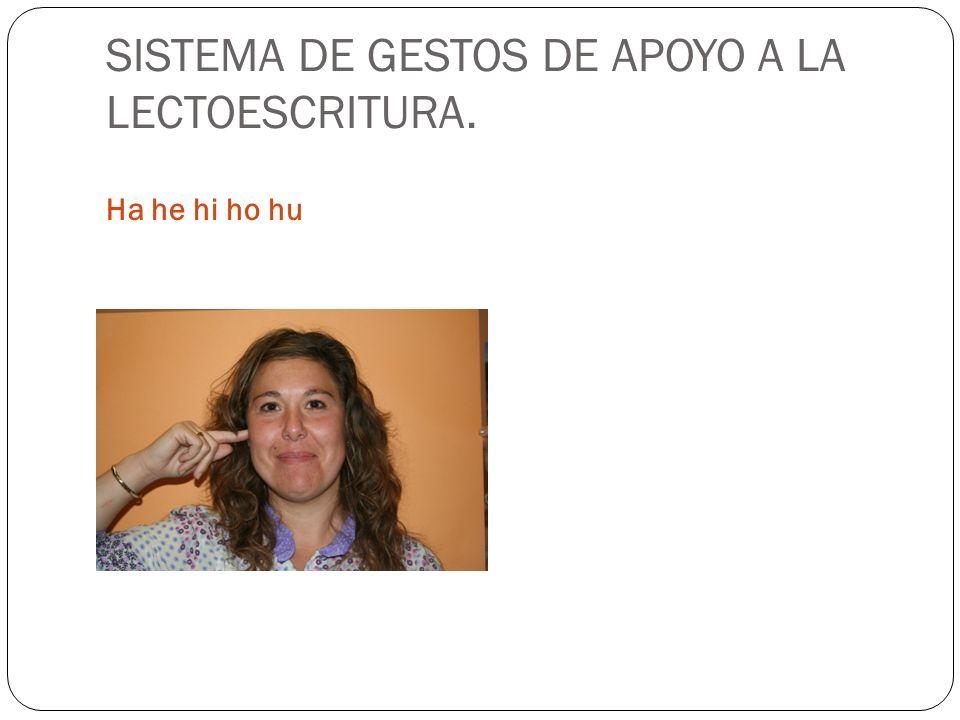 SISTEMA DE GESTOS DE APOYO A LA LECTOESCRITURA. Ha he hi ho hu
