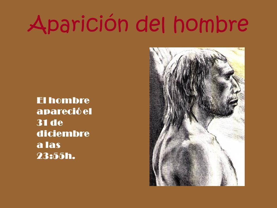 Aparición del hombre El hombre apareció el 31 de diciembre a las 23:55h.