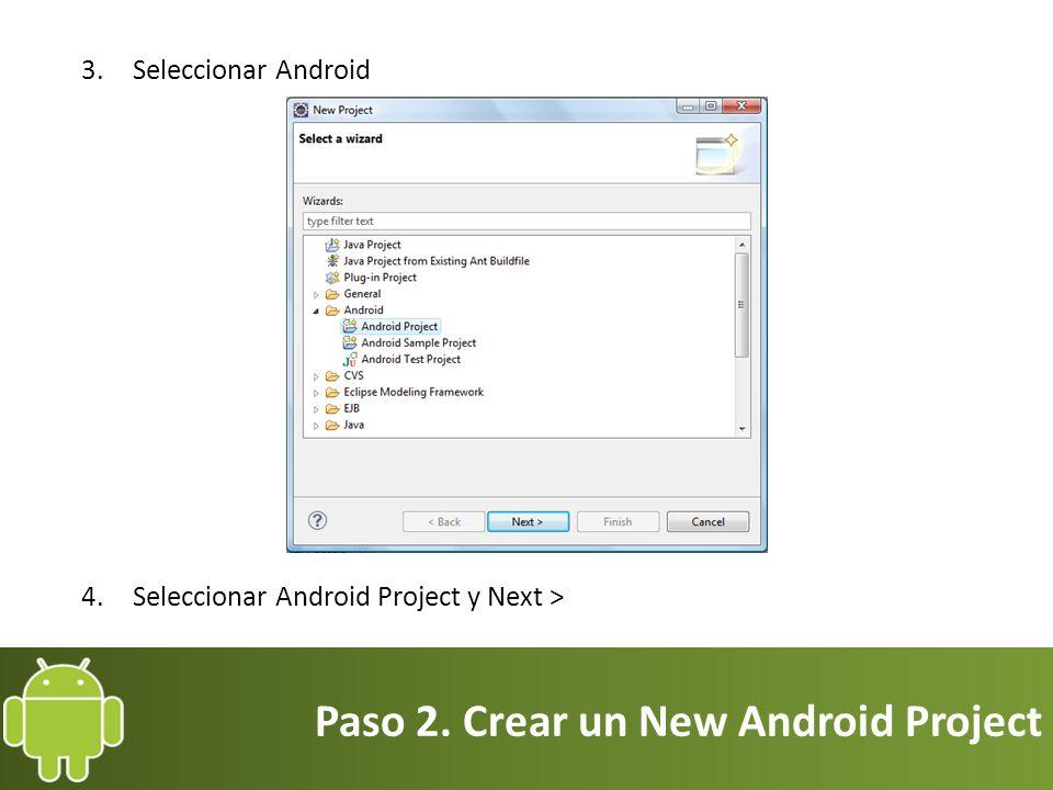 Paso 5. Transferir la aplicación a un Smartphone o Tablet 5. Se selecciona Development.