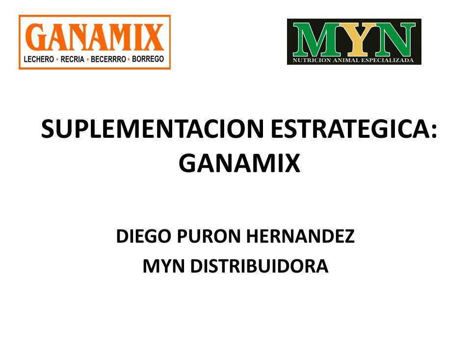SUPLEMENTACION ESTRATEGICA: GANAMIX DIEGO PURON HERNANDEZ MYN DISTRIBUIDORA