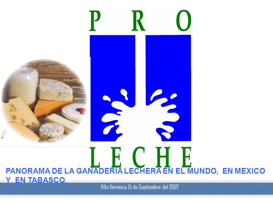 Villa Hermosa 15 de Septiembre del 2007 1 © DeLaval 2003 Presentation Name/Ref09/02/2014 22:28 1 PANORAMA DE LA GANADERIA LECHERA EN EL MUNDO, EN MEXI