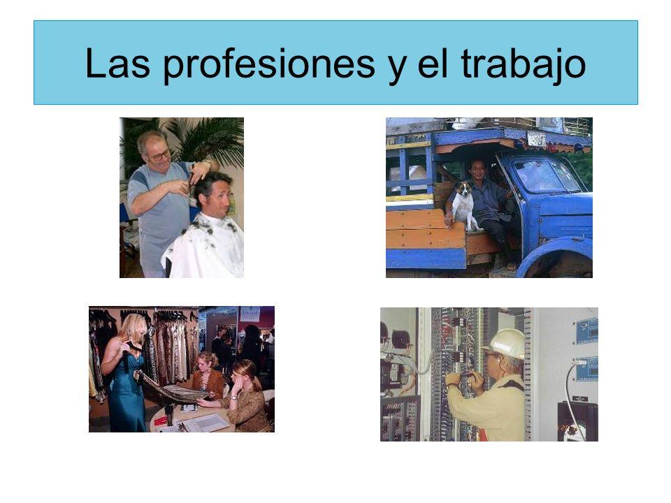 el maestro / la maestra el profesor/ la profesora La maestra trabaja en una escuela.