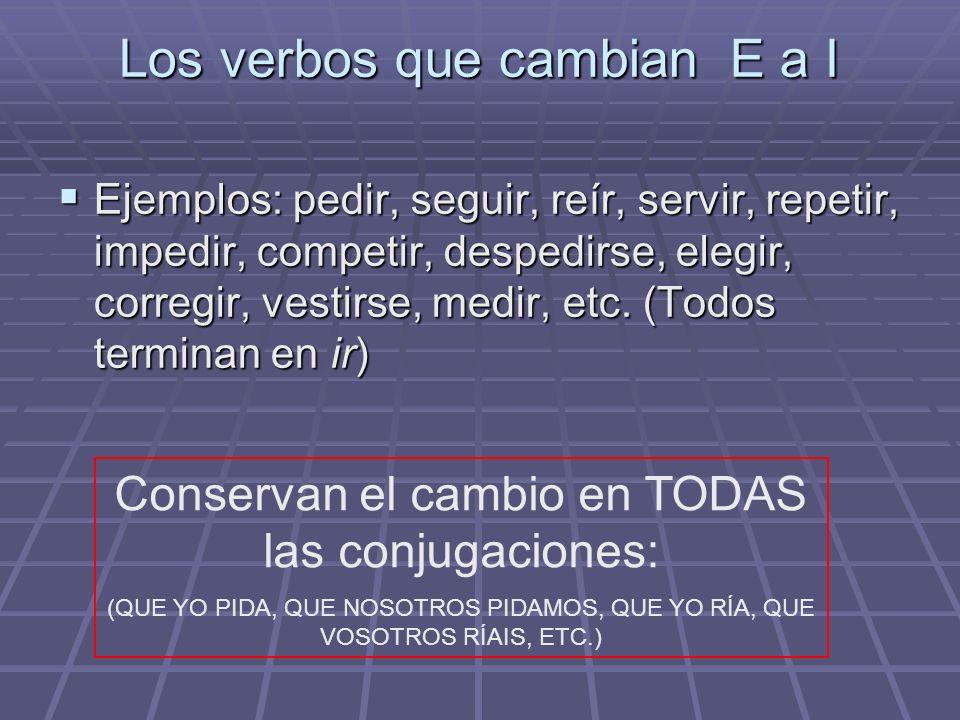 VERBOS AR y ER CON CAMBIOS EN LA RAÍZ: Los verbos que en presente de indicativo cambian: la E a IE (pensar, empezar, comenzar, nevar, cerrar, desperta