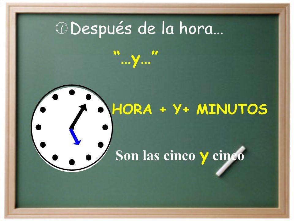 ¿Qué hora es? S on las cinco en punto (Its five oclock)