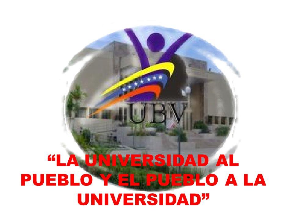LA UNIVERSIDAD AL PUEBLO Y EL PUEBLO A LA UNIVERSIDAD