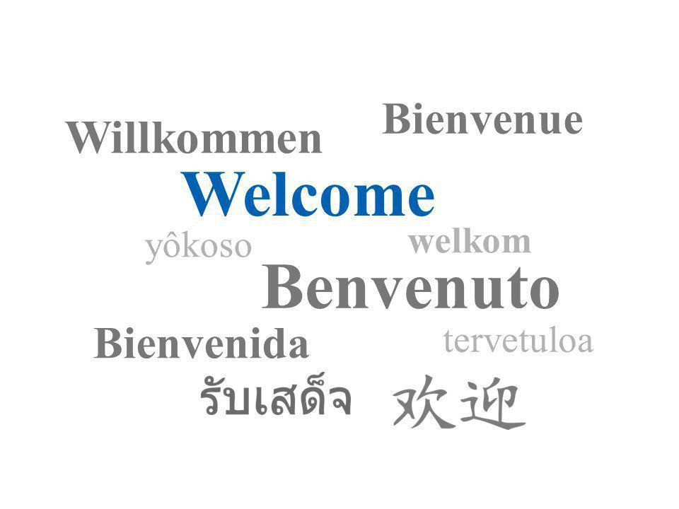 Page 1 Welcome Bienvenue Willkommen Benvenuto Bienvenida yôkoso tervetuloa welkom