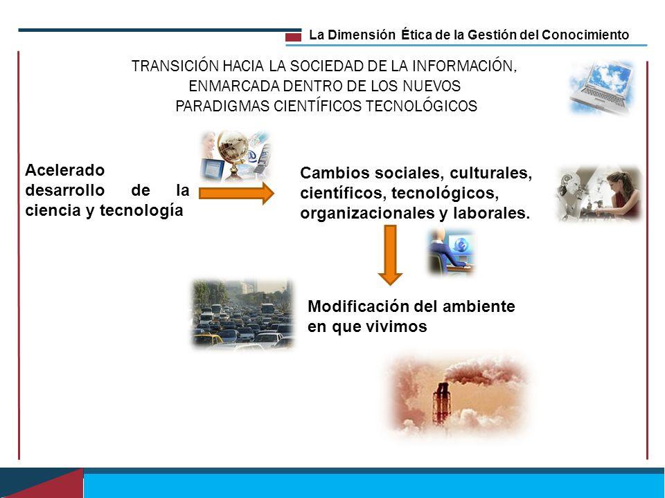 La Dimensión Ética de la Gestión del Conocimiento TRANSICIÓN HACIA LA SOCIEDAD DE LA INFORMACIÓN, ENMARCADA DENTRO DE LOS NUEVOS PARADIGMAS CIENTÍFICO