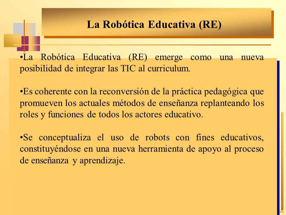 La Robótica Educativa (RE) emerge como una nueva posibilidad de integrar las TIC al curriculum. Es coherente con la reconversión de la práctica pedagó