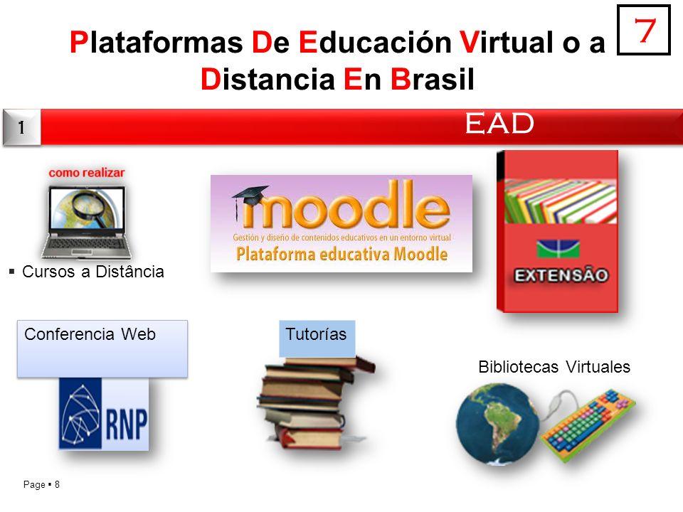 Page 8 Plataformas De Educación Virtual o a Distancia En Brasil EAD 7 1 1 Conferencia Web Cursos a Distância Tutorías Bibliotecas Virtuales