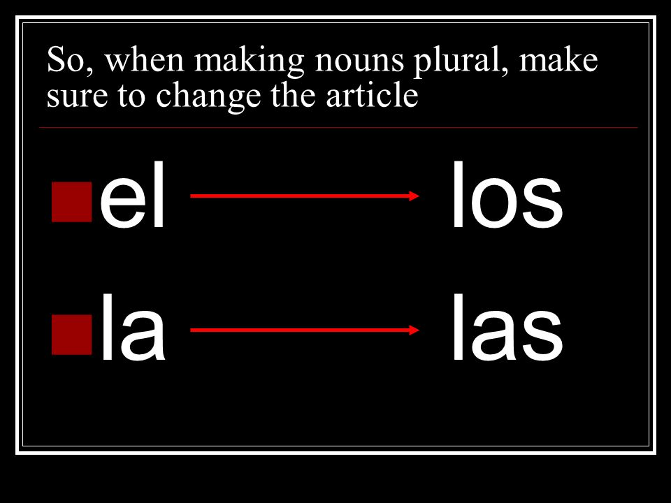 Plural- Add –s to nouns ending in a vowel and –es to nouns ending in a consonant 1.