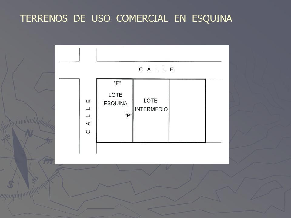 TERRENOS DE USO COMERCIAL EN ESQUINA