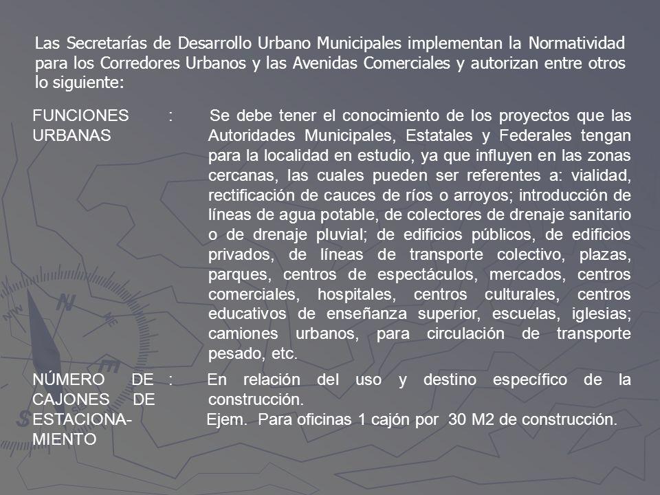 Las Secretarías de Desarrollo Urbano Municipales implementan la Normatividad para los Corredores Urbanos y las Avenidas Comerciales y autorizan entre