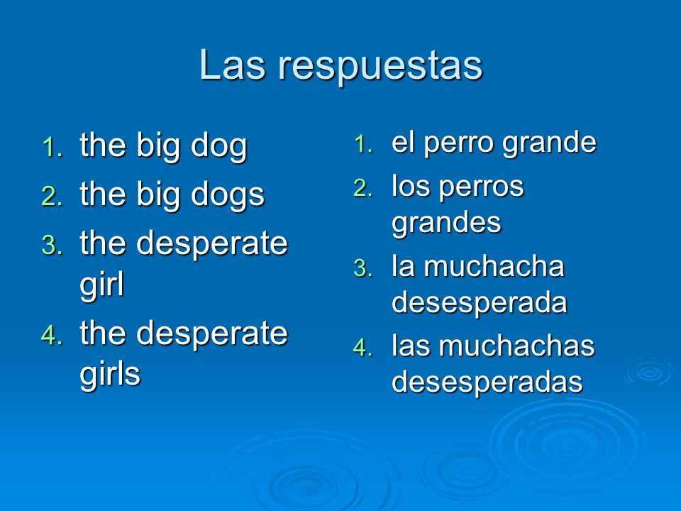 las respuestas 1.The desperate boy 2. The desperate boys 3.