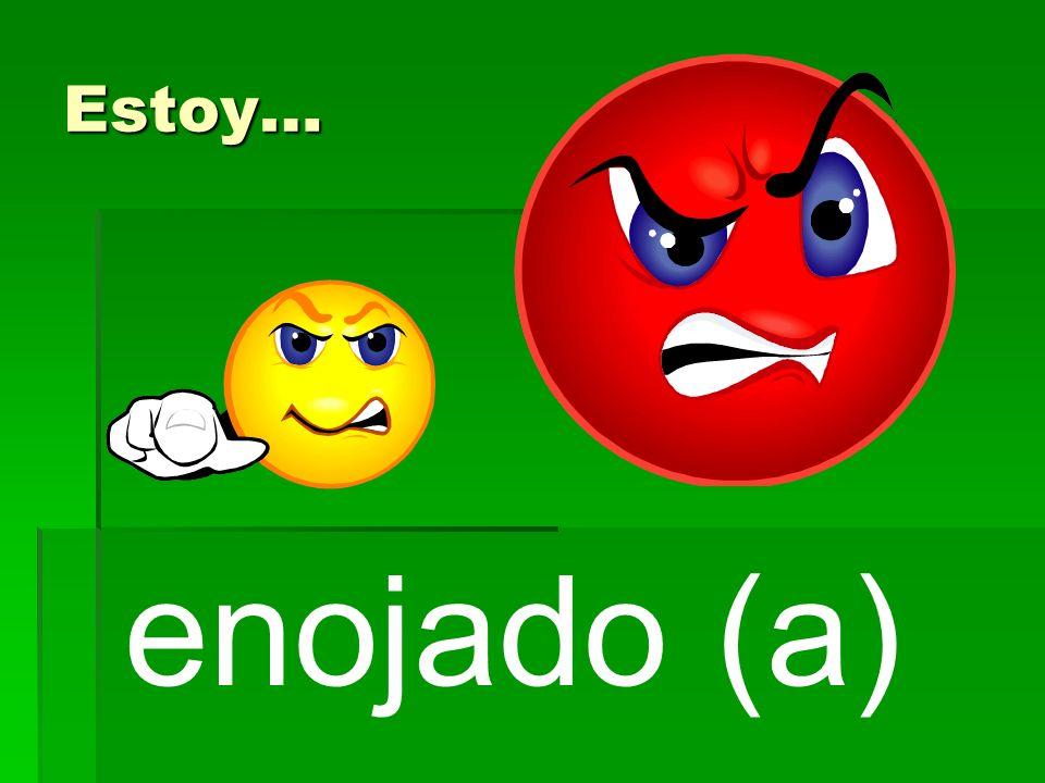 enojado (a) Estoy…