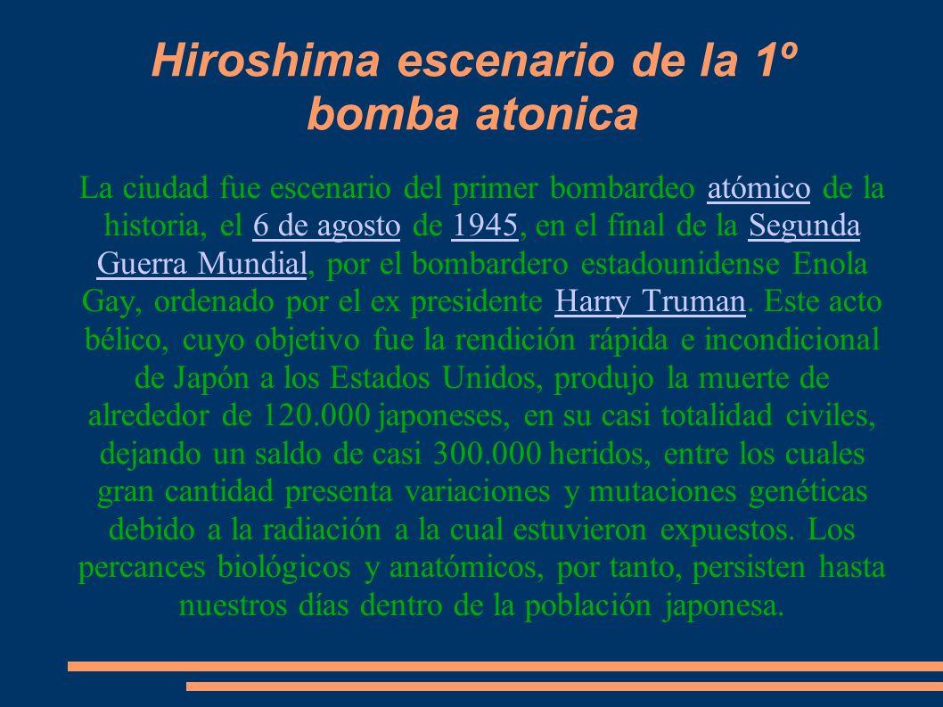 Calle de Hiroshima Cúpula de Gembaku, símbolo de la ciudad Castillo de Hiroshima Fuente de Hiroshima