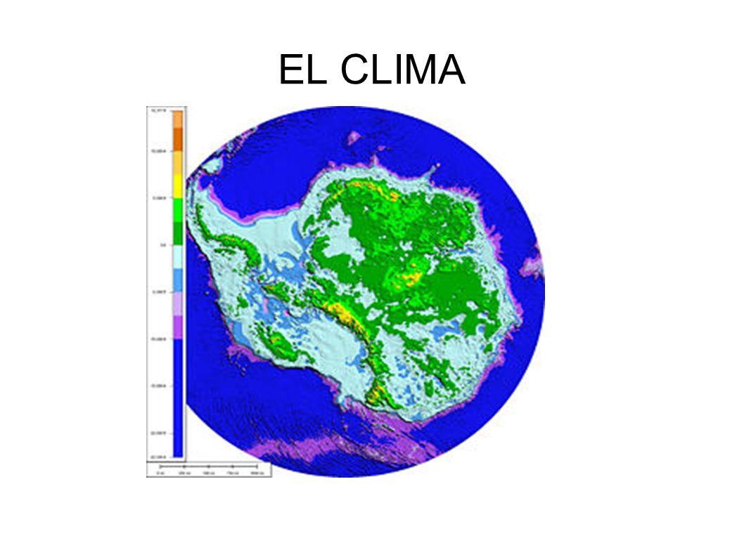 Sobre casi toda la superficie del continente impera el clima polar, donde la temperatura promedio del mes más cálido no supera los 0 °C.