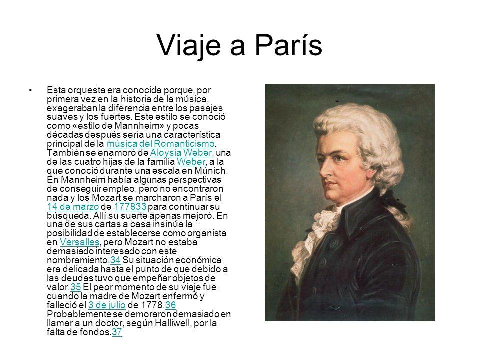 Viaje a París Esta orquesta era conocida porque, por primera vez en la historia de la música, exageraban la diferencia entre los pasajes suaves y los