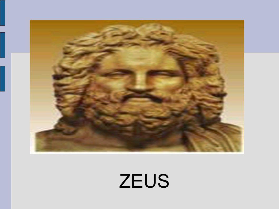 Zeus es en la mitología griega, dios del cielo y soberano de los dioses olímpicos.