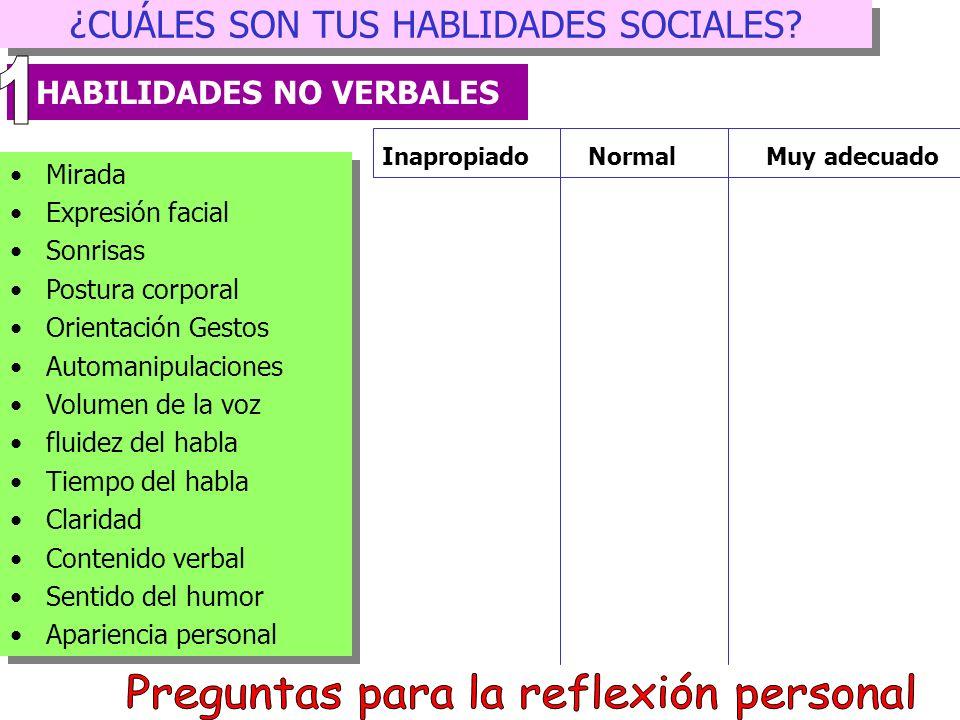 TÉCNICAS DE ENSEÑANZA DE LAS HABILIDADES SOCIALES HABILIDAD: Saludar Componentes 1. Saludo inicial verbal: Decir Hola 2. Hacer alguna pregunta 3. Dar