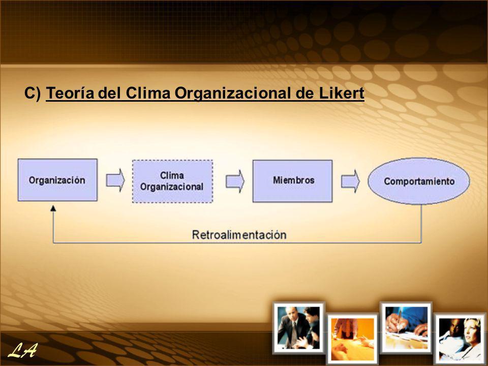 C) Teoría del Clima Organizacional de Likert LA