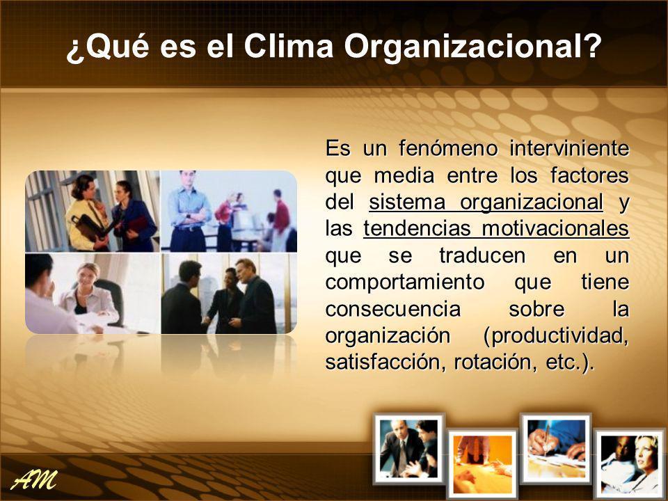 El clima se refiere a las características del medio ambiente de trabajo.
