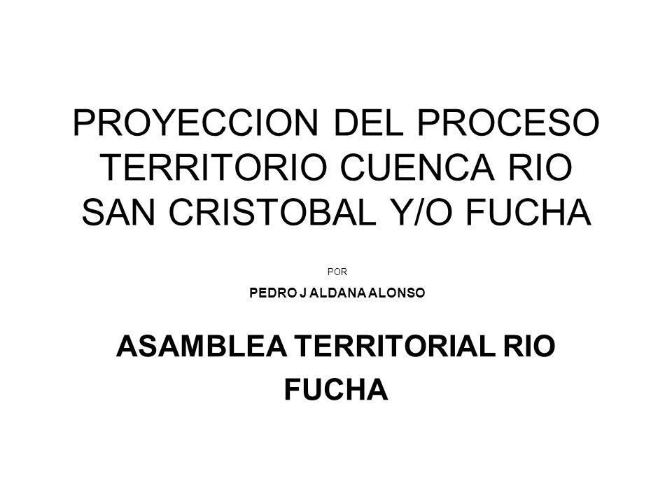 PROYECCION DEL PROCESO TERRITORIO CUENCA RIO SAN CRISTOBAL Y/O FUCHA ASAMBLEA TERRITORIAL RIO FUCHA POR PEDRO J ALDANA ALONSO