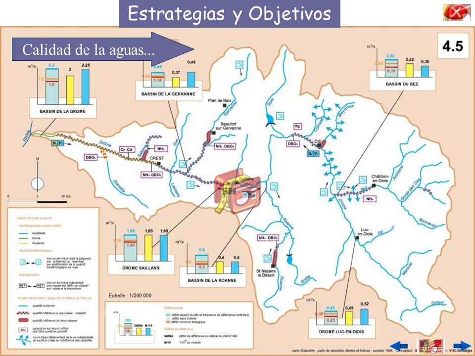 Estrategias y Objetivos Calidad de la aguas... …