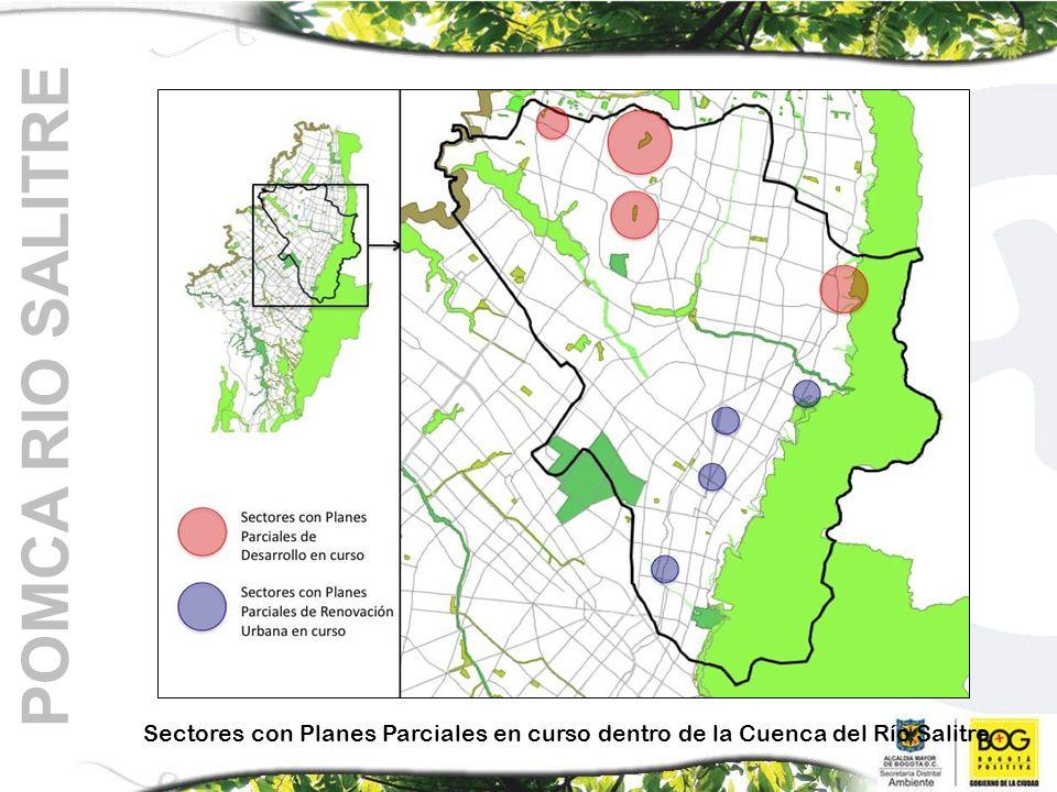 Sectores con Planes Parciales en curso dentro de la Cuenca del Río Salitre POMCA RIO SALITRE