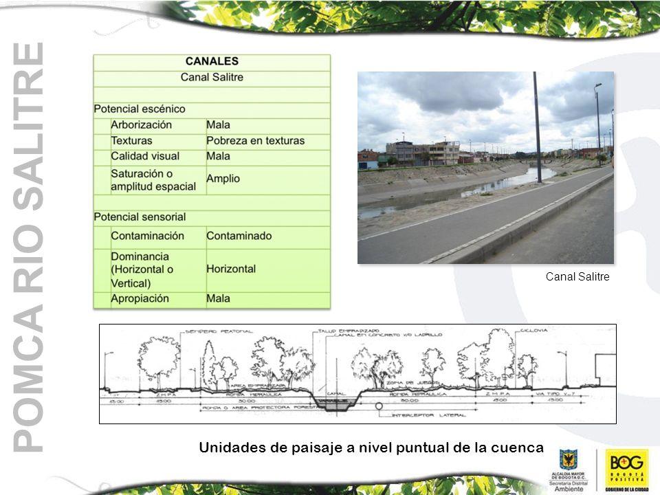 POMCA RIO SALITRE Unidades de paisaje a nivel puntual de la cuenca Canal Salitre