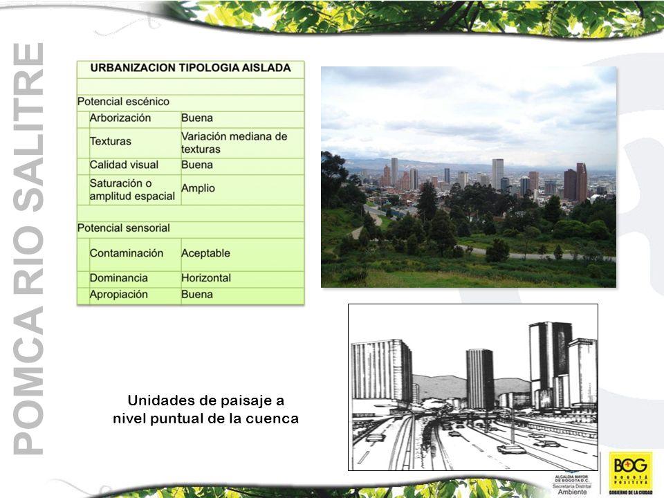 POMCA RIO SALITRE Unidades de paisaje a nivel puntual de la cuenca
