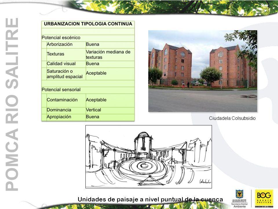 POMCA RIO SALITRE Unidades de paisaje a nivel puntual de la cuenca Ciudadela Colsubsidio