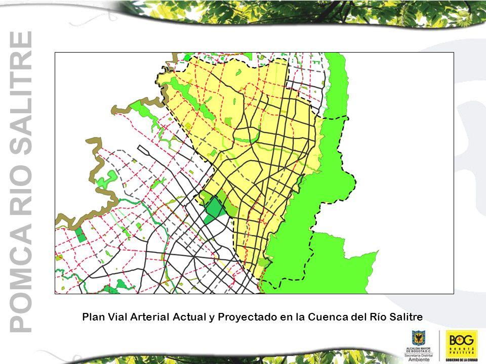 Plan Vial Arterial Actual y Proyectado en la Cuenca del Río Salitre POMCA RIO SALITRE