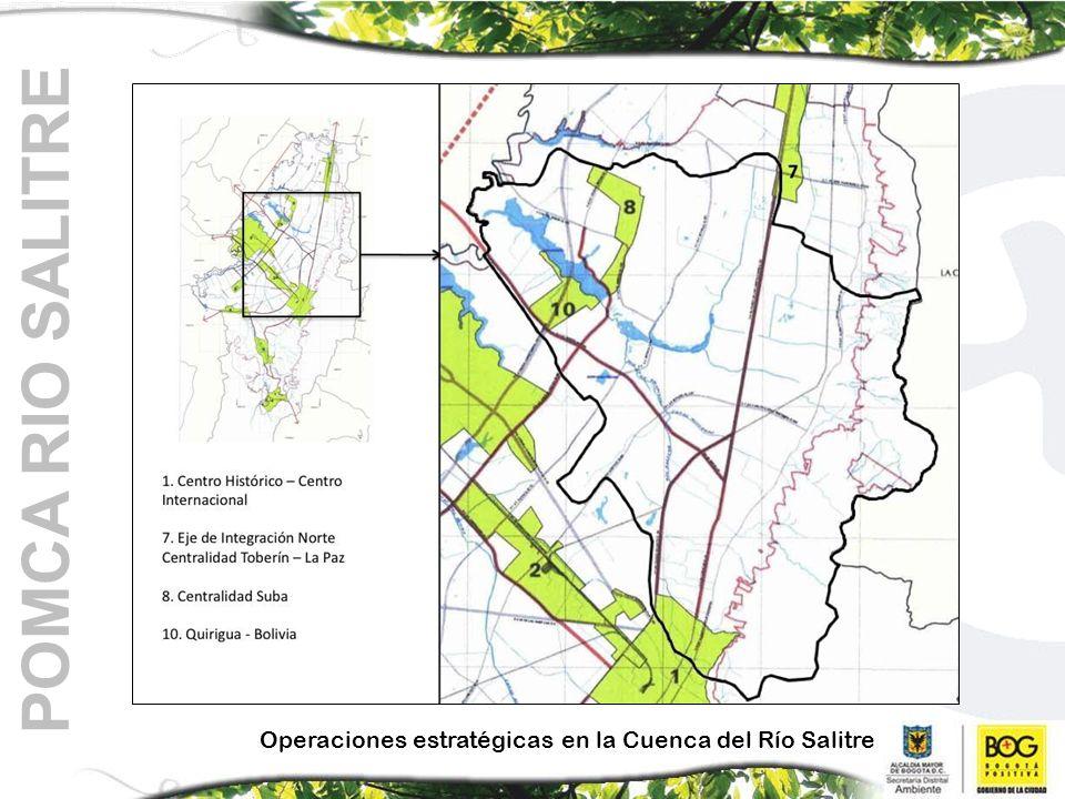Operaciones estratégicas en la Cuenca del Río Salitre POMCA RIO SALITRE