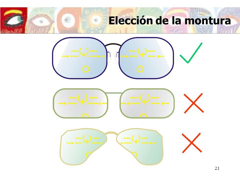 22 Centros de montaje Asimetrías Centrado de las lentes