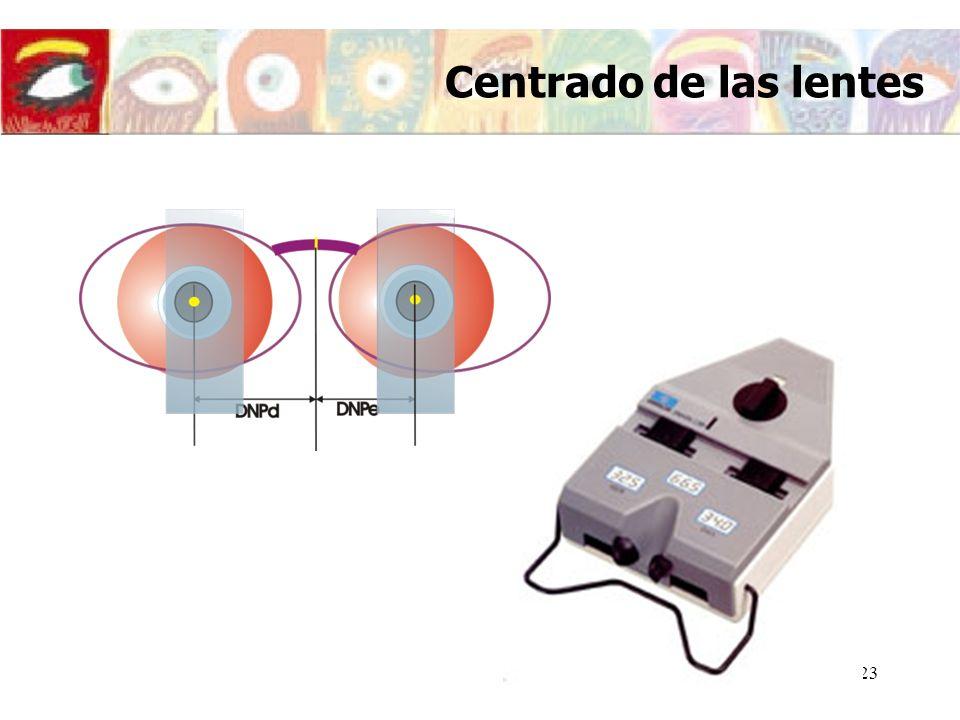 24 Centrado de las lentes